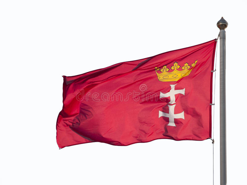 Download A flag of Gdansk stock photo. Image of pole, banner, yellow - 22833908