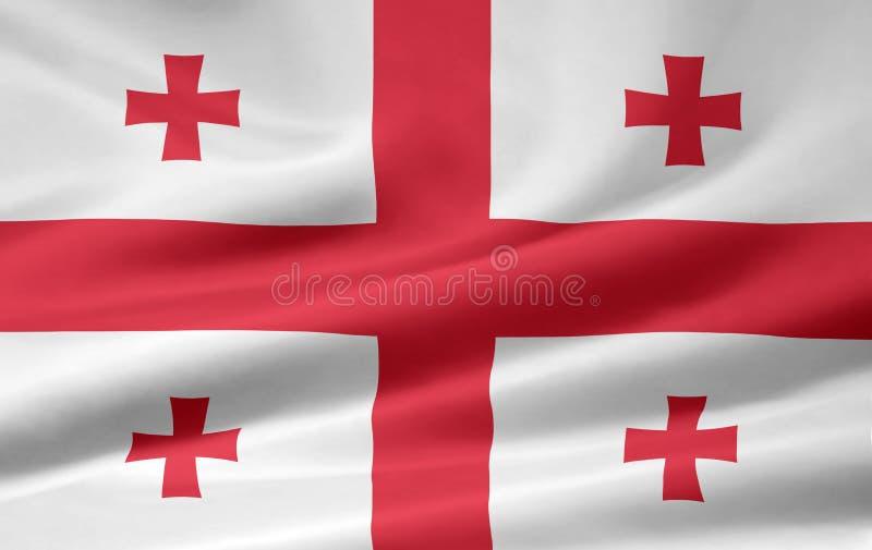 Flag of Georgia royalty free stock photo