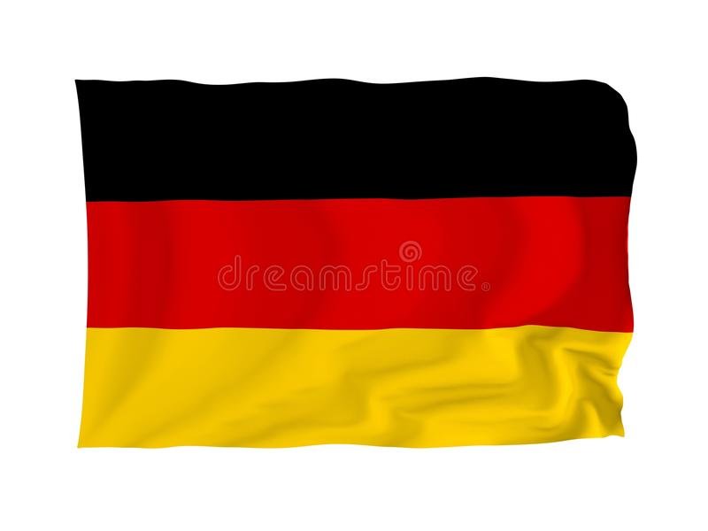 Flag of Germany stock illustration