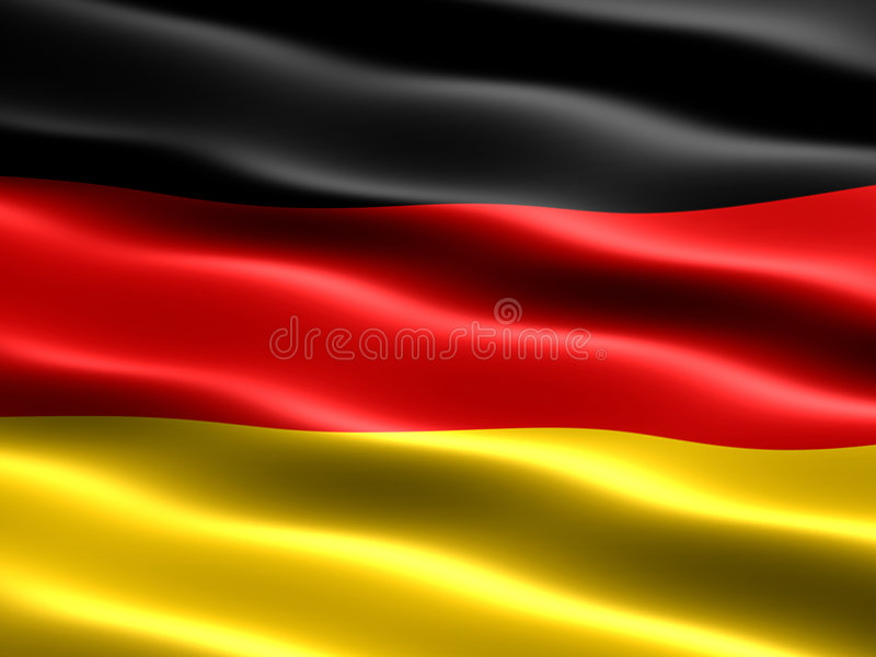 Flag of Germany. With silky appearance and waves