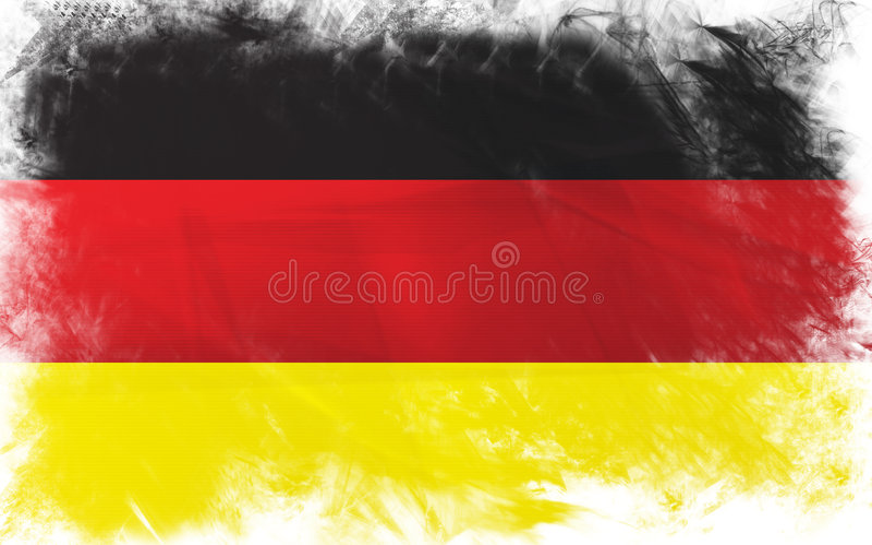 Flag of germany royalty free illustration