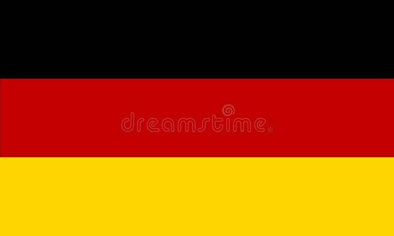 Flag of Germany. Black, red and gold colors. Proportion 3:5. JPG and EPS format royalty free illustration