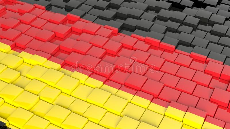 Flag of Germany. 3D abstract background with flag of Germany stock illustration