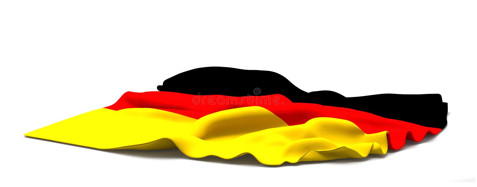 Flag of germany. 3d rendering german colored stock illustration