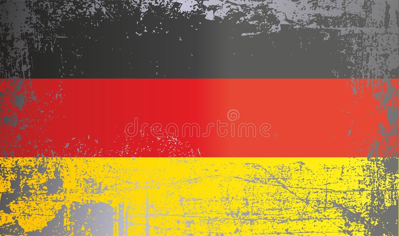 Flag of Germany, Federal Republic of Germany, Wrinkled dirty spots. Can be used for design, stickers, souvenirs royalty free stock images