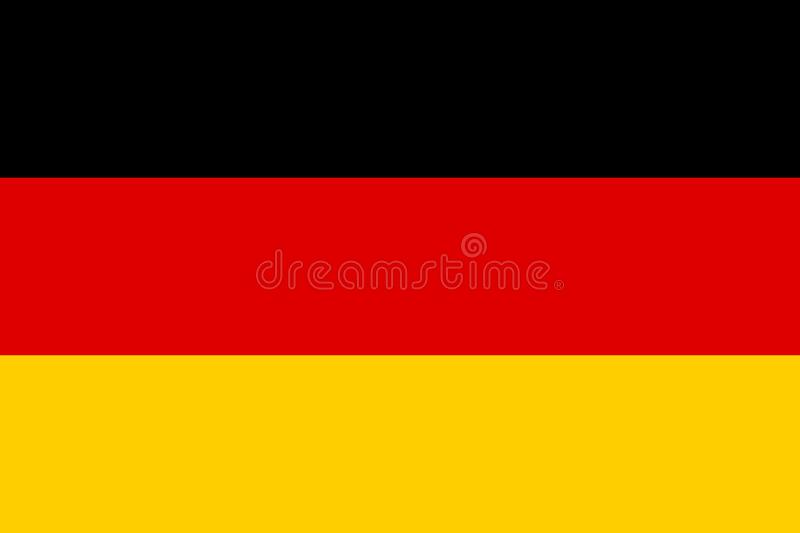 Germany Flag Background. The flag of Germany or German Flag is a tricolour consisting of three equal horizontal bands displaying the national colours of Germany royalty free illustration