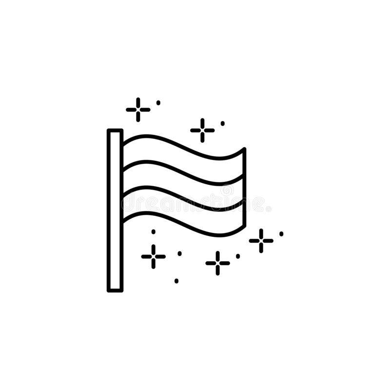 Flag, Germany icon. Element of October festival icon. On white background royalty free illustration