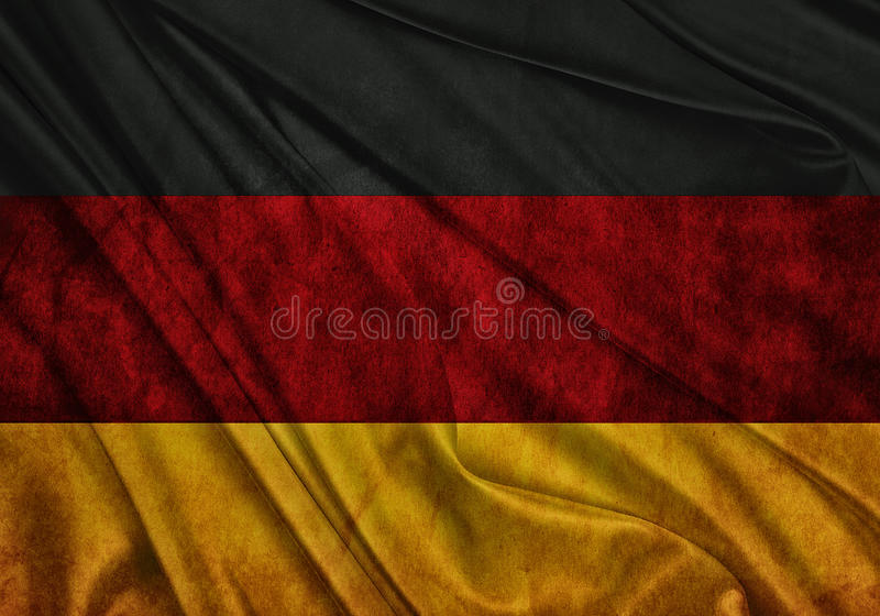 Flag of Germany. Realistic waving flag of Germany vector illustration