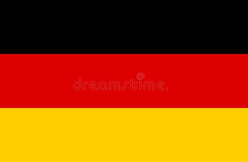 Flag of Germany Vector royalty free illustration