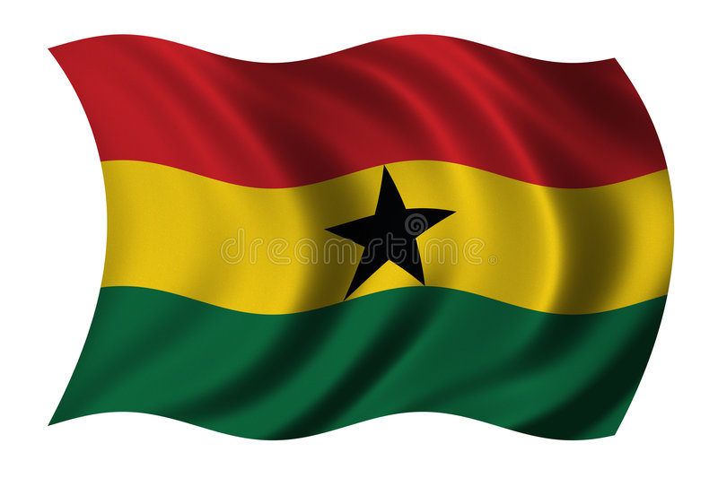 Flag of Ghana stock illustration