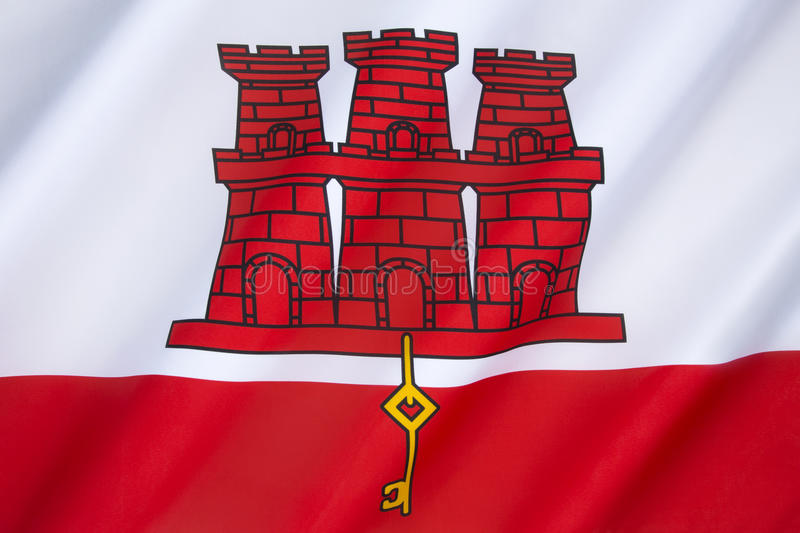 Flag of Gibraltar royalty free stock photography