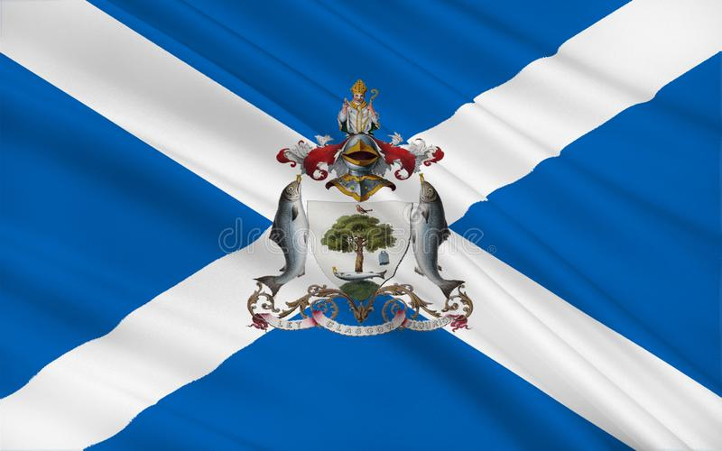 Flag Of Glasgow Is The Largest City In Scotland Stock ...