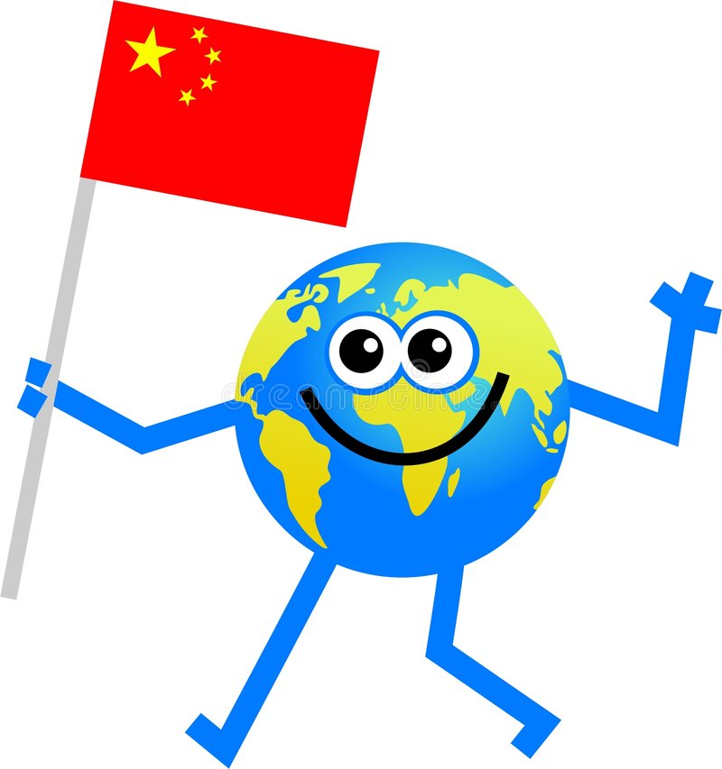 Flag globe royalty free illustration