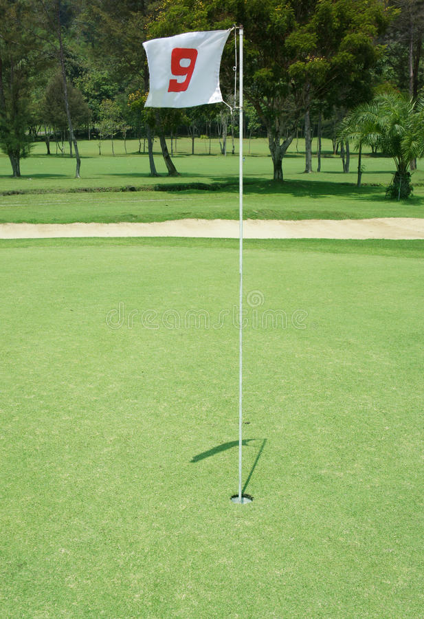 Flag golf stock photography