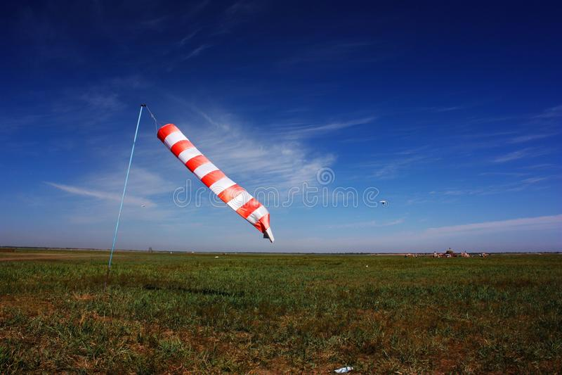 Flag at grassland royalty free stock photo