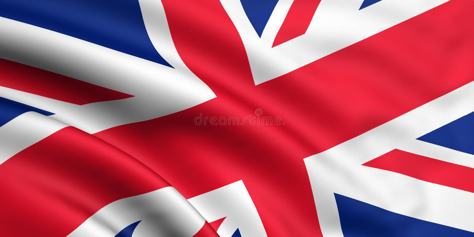 Flag Of Great Britain royalty free illustration