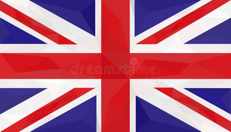 Flag, Great Britain, low poly art vector illustration