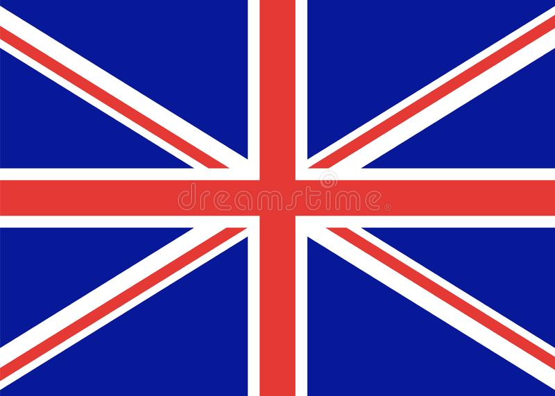 Flag of great Britain, official state. A distinctive sign of the English United Kingdom. Vector color. flag of England. Flag of great Britain, official state. A stock illustration