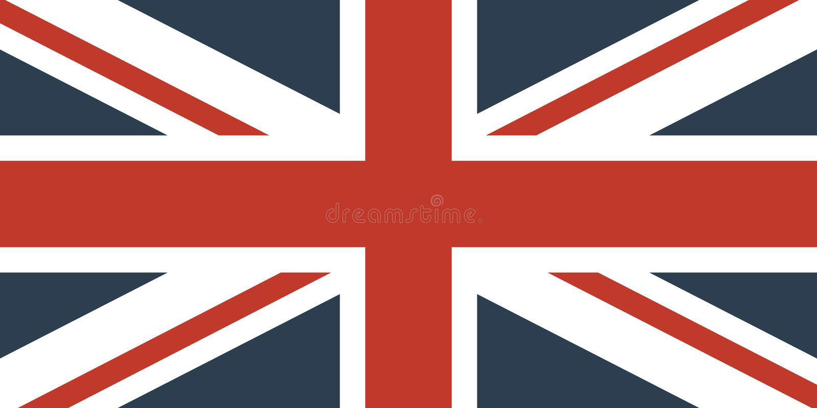 Flag Of The Great Britain royalty free illustration