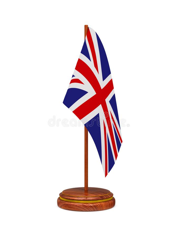 Flag of Great Britain on white background. Isolated 3D image.  royalty free illustration