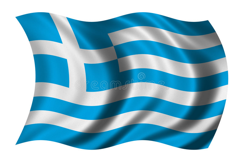 Flag of Greece royalty free illustration