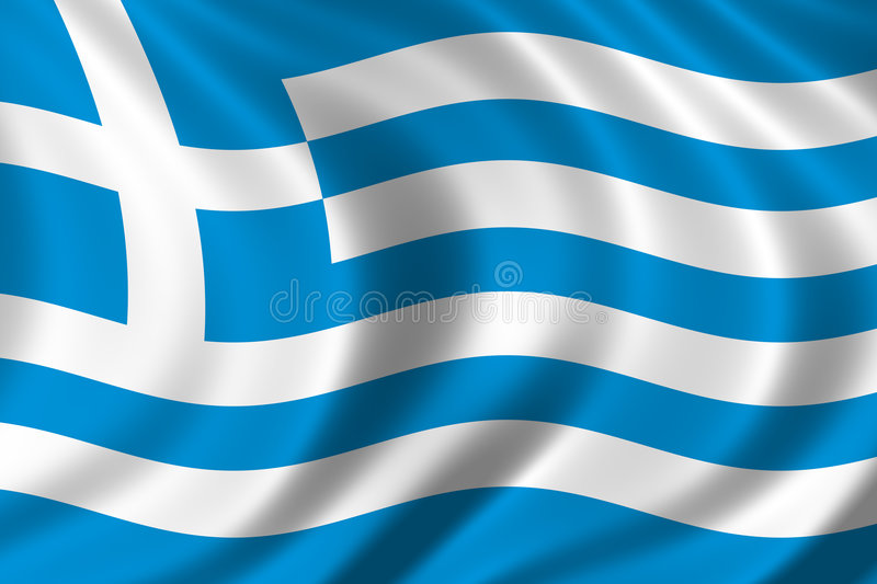 Flag of Greece stock illustration