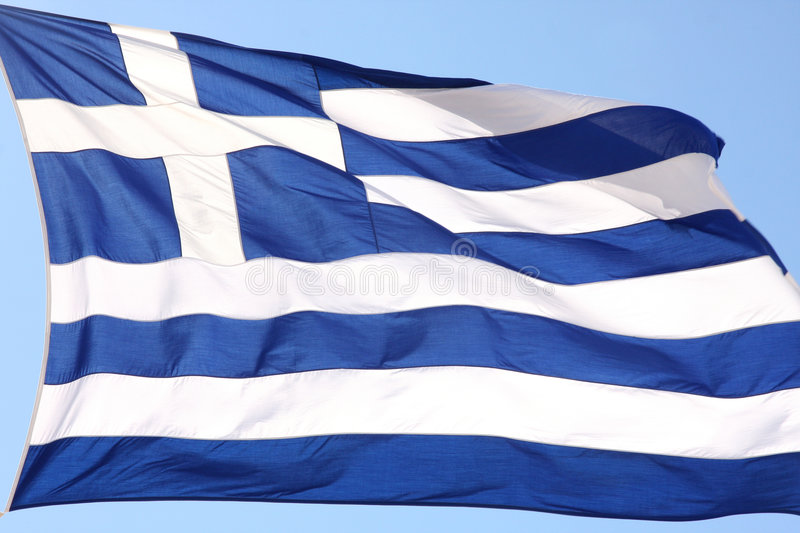 Download Flag of Greece stock image. Image of mediterranean, waving - 6121701