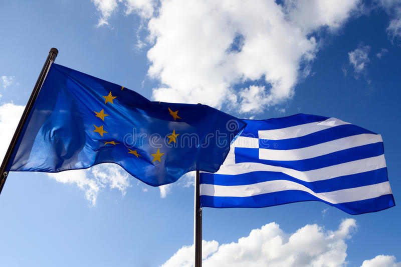Flag of Greece stock photo