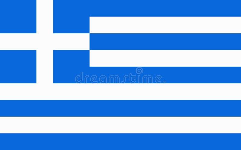 Flag of Greece. royalty free illustration