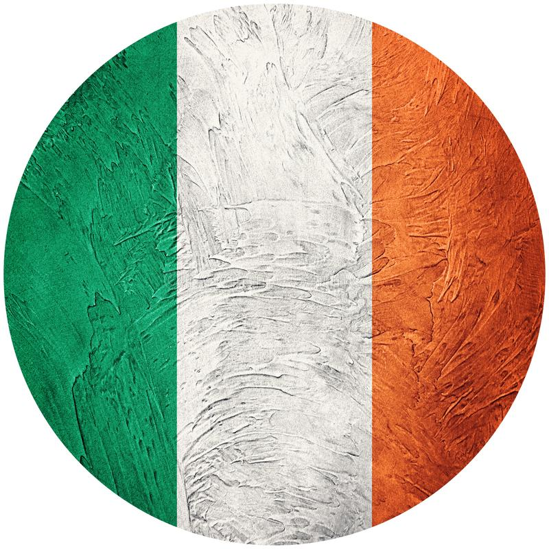 flag grunge ireland Irländsk knappflagga som isoleras på den vita backgroen stock illustrationer
