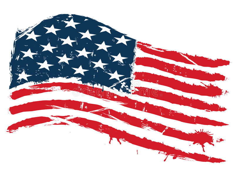 flag grunge USA stock illustrationer