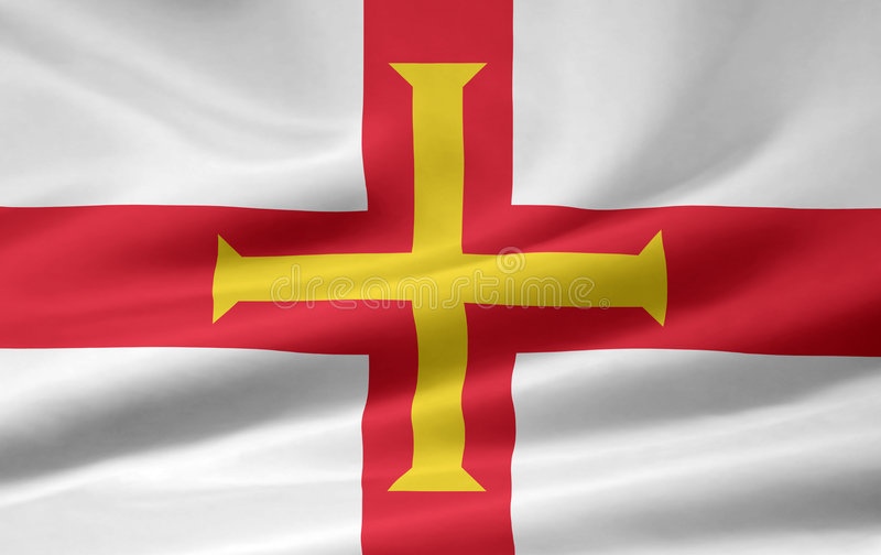 Flag of Guernsey royalty free stock image