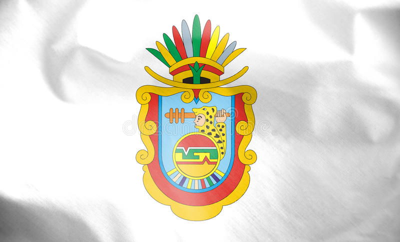 Flag of Guerrero, Mexico. 3d Rendered Flag of Guerrero, Mexico stock illustration