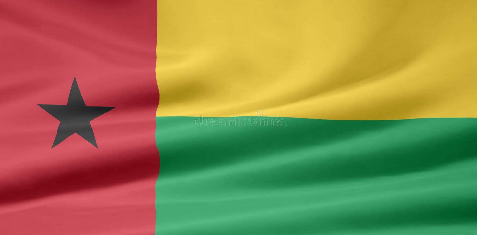 Flag of Guinea Bisseau stock photography