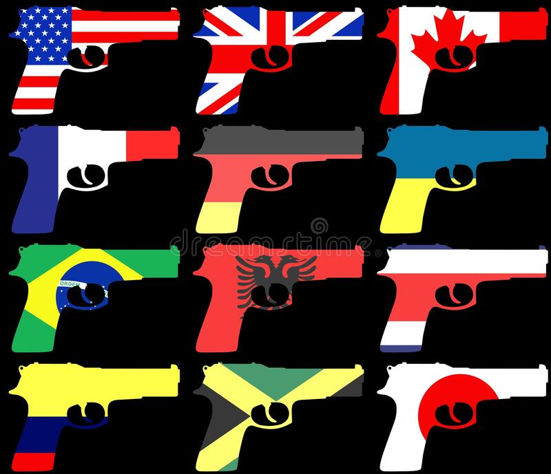 Flag Guns Stock Photo