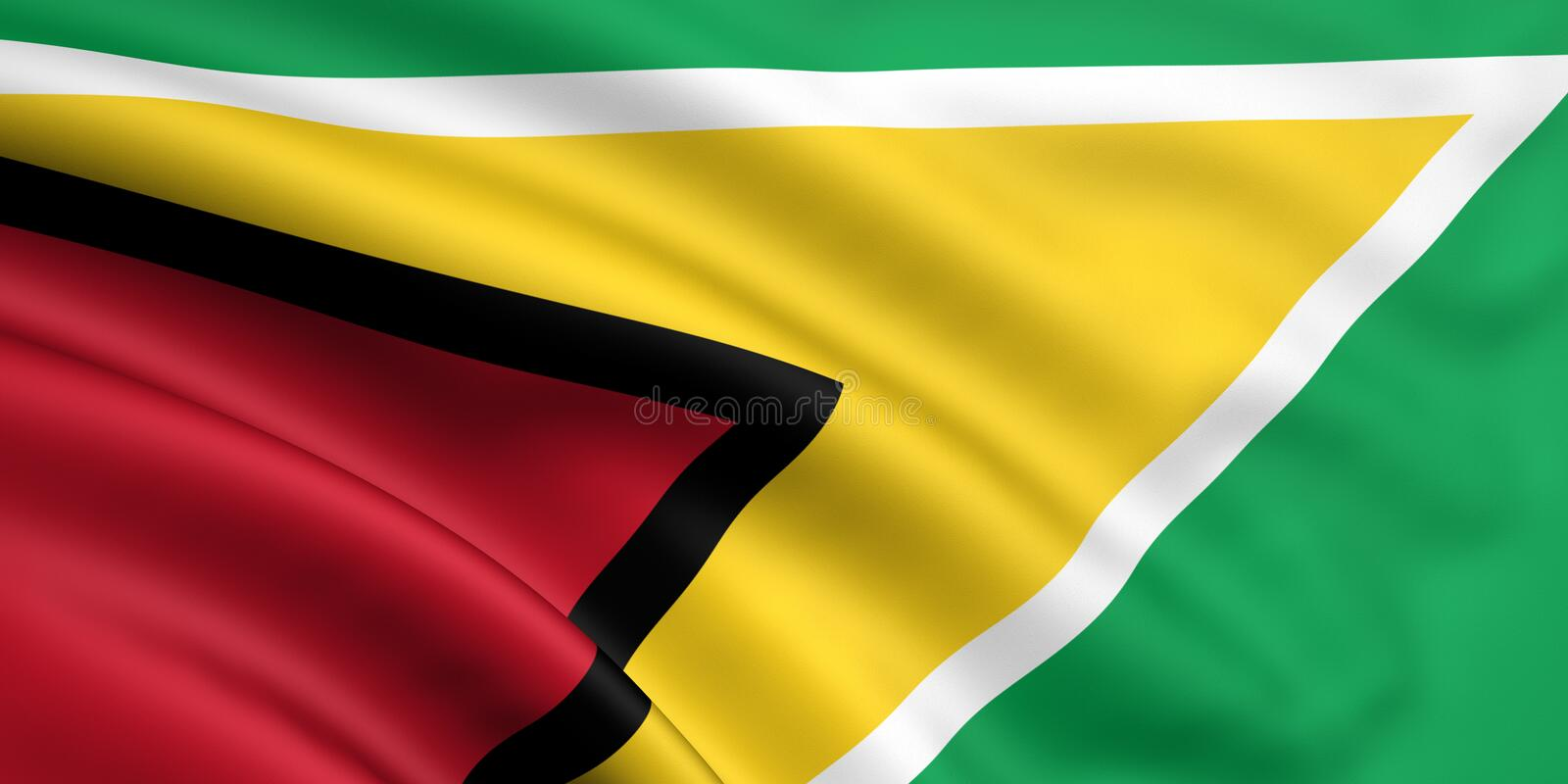 Flag Of Guyana Stock Photo