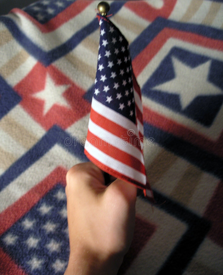 Download Flag in Hand stock photo. Image of american, carpet, classic - 206566