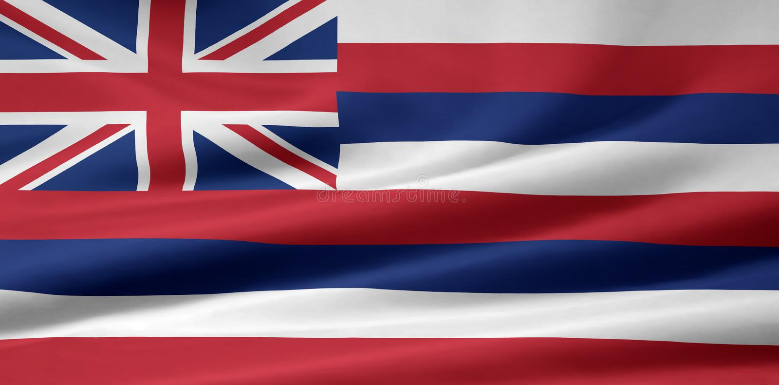 Flag of Hawaii stock illustration