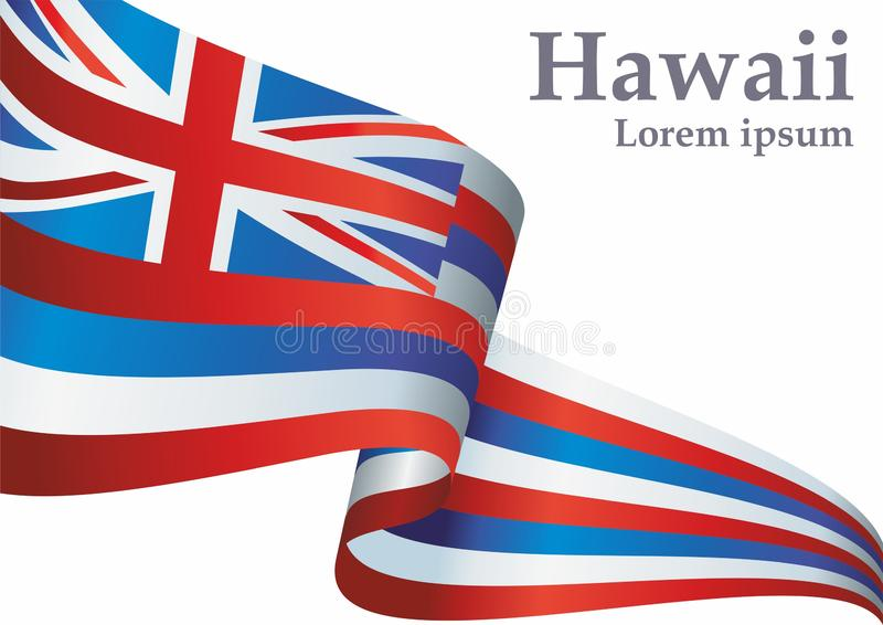 Flag of Hawaii, State of Hawaii, United States of America. Template for award design, an official document with the flag of Hawaii vector illustration