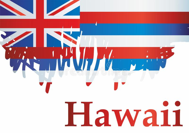 Flag of Hawaii, State of Hawaii, United States of America. Template for award design, an official document with the flag of Hawaii royalty free illustration