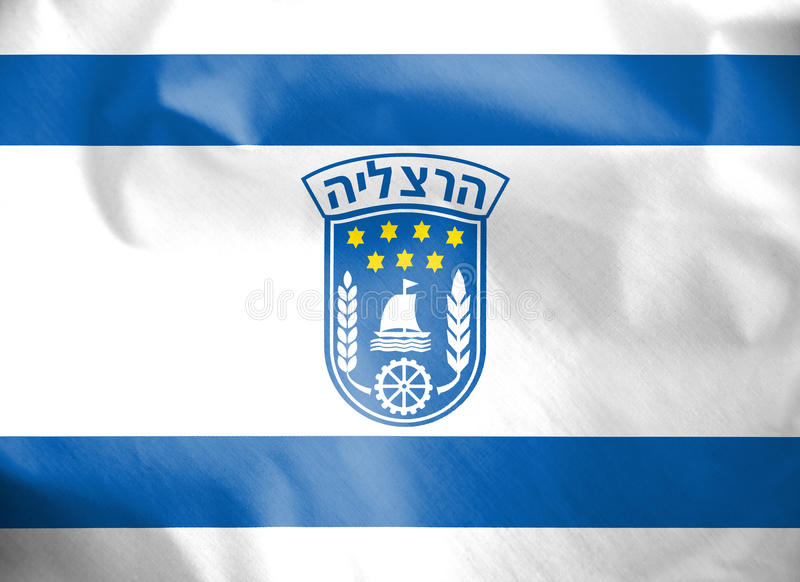 Flag of Herzliya, Israel. royalty free illustration