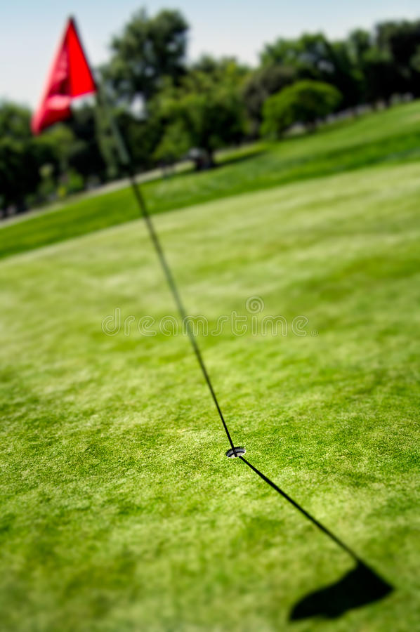 Download Flag And Hole On Golf Field Stock Photo - Image of white, activity: 23569854