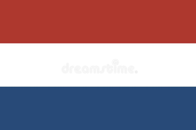 Flag of Holland oficial colors and proportions. Flag of the Kingdom of the Netherlands, Flag of Holland oficial colors and proportions stock illustration