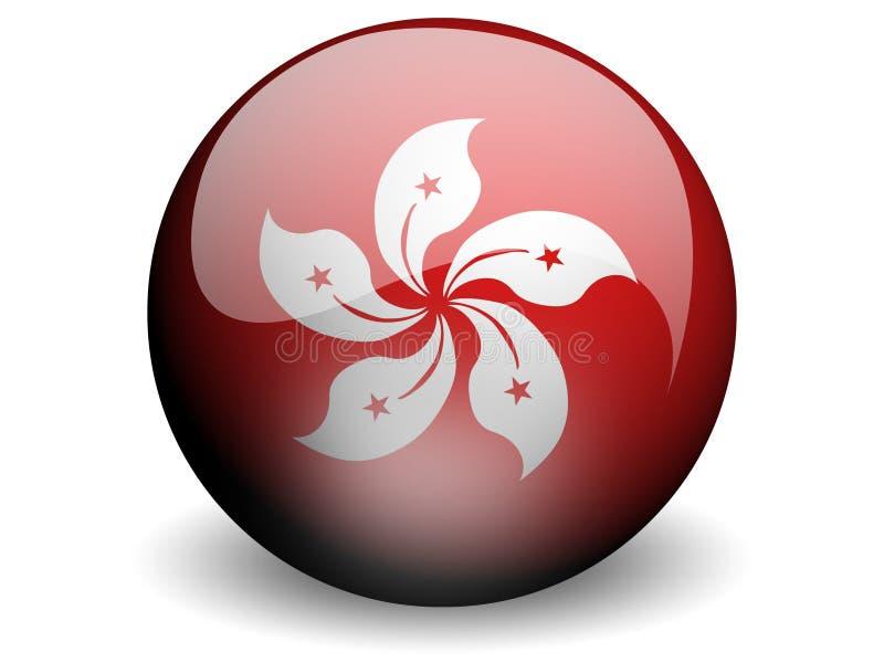flag Hong Kong круглое иллюстрация штока