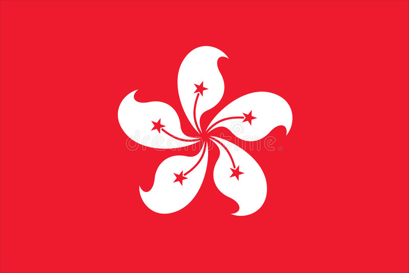 Flag of Hong Kong. Vector Illustration