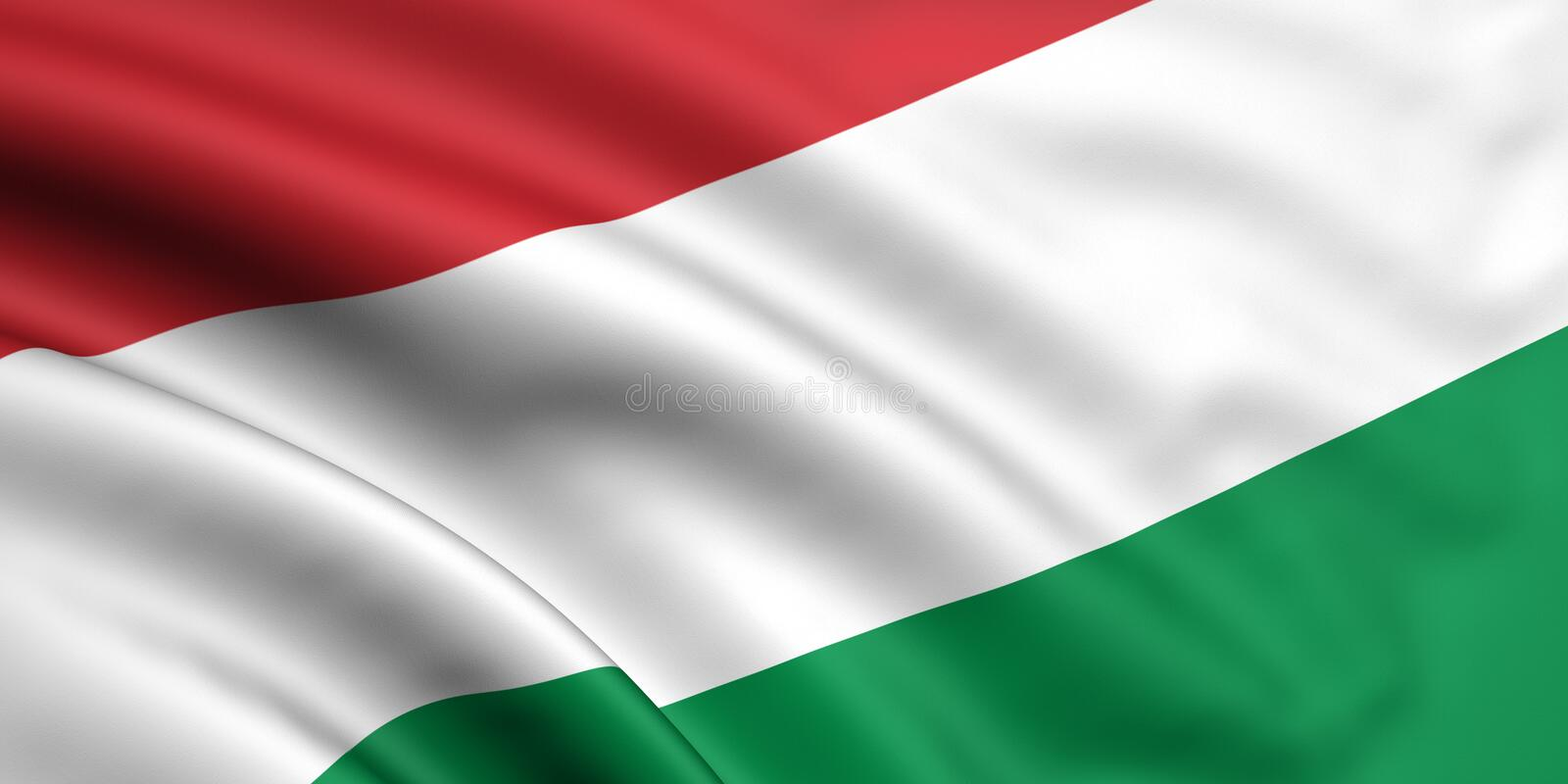 Flag Of Hungary. 3d rendered flag of hungary