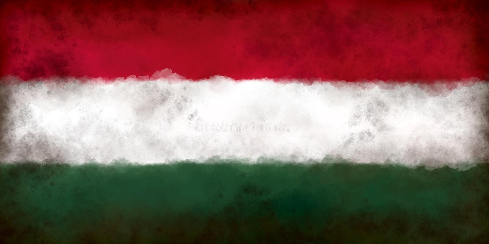 Flag of hungary. Abstract background illustration - flag of hungary stock illustration