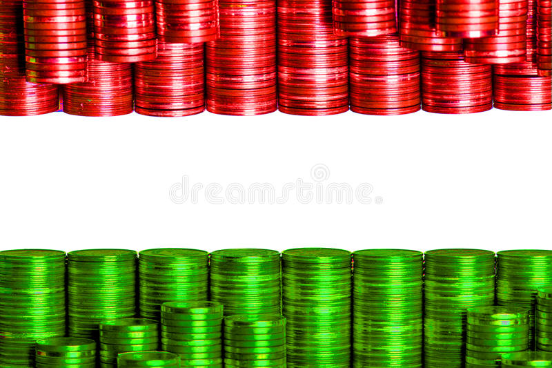 Flag hungary. Build with coins stock image