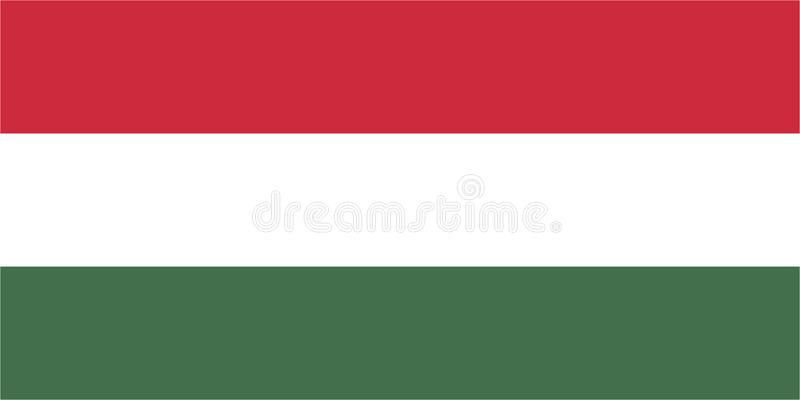Flag of Hungary. Vector format ai aviable europe red white and green stripes royalty free illustration