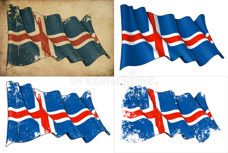 Flag Of Iceland Royalty Free Stock Images